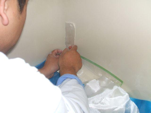 浴槽ひび割れ補修工事