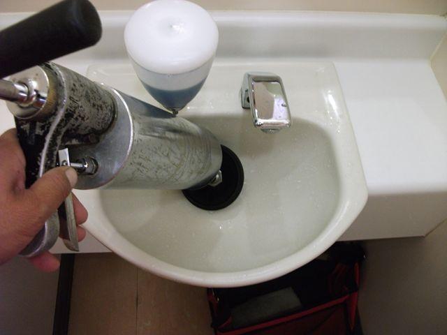 洗面排水管詰まり修理 及び 清掃