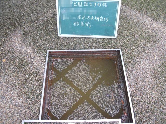 屋外汚水本管詰まり修繕