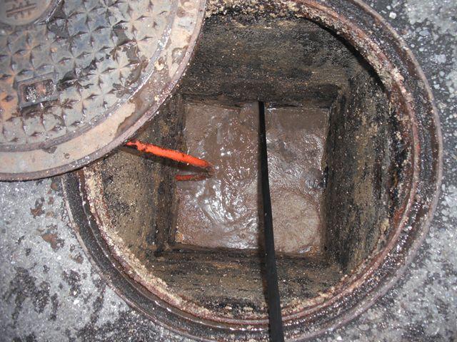 厨房土間排水詰まり修理