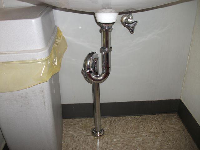 洗面排水管 水漏れ修理