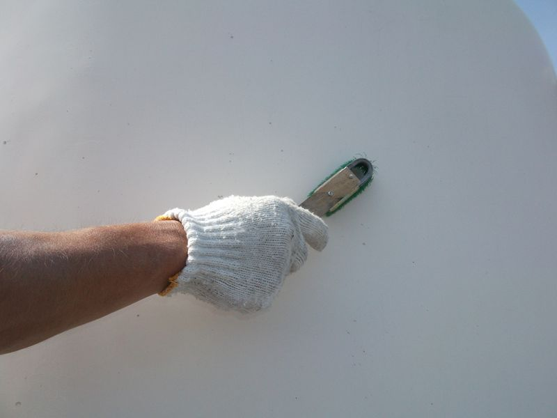 高架水槽、受水槽 外面塗装工事 【その2】