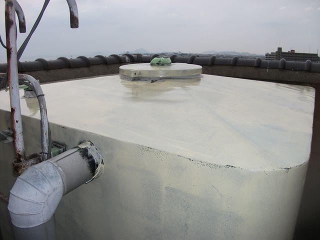 高架水槽外面塗装