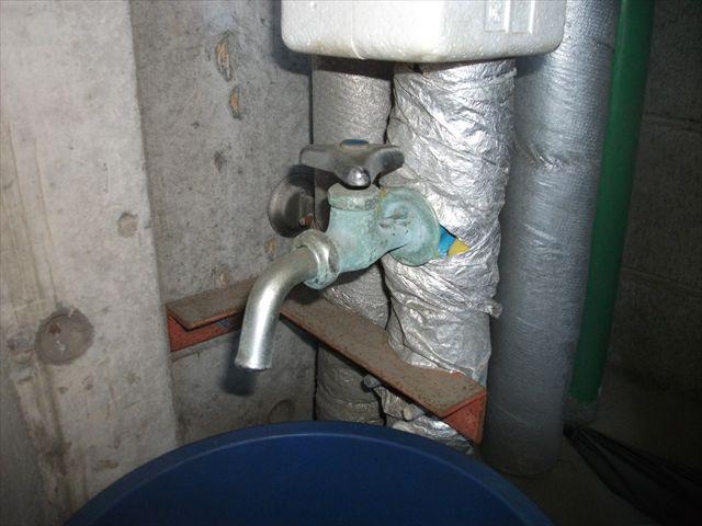 共有部 単水栓交換
