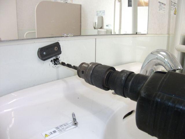 壁付き石鹸入れ 固定不良修理