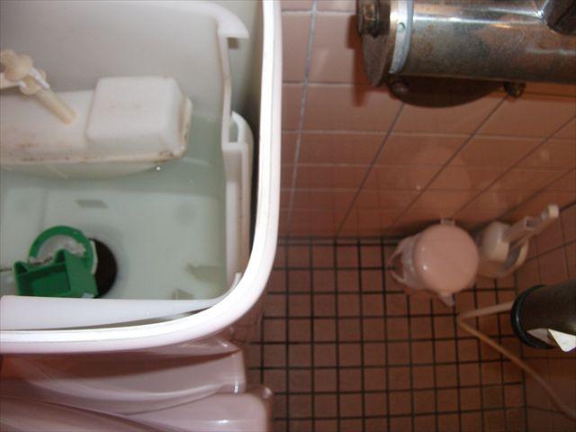洋式トイレレバー破損修理