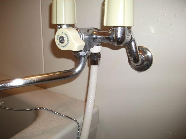 風呂蛇口シャワーホース水漏れ修理